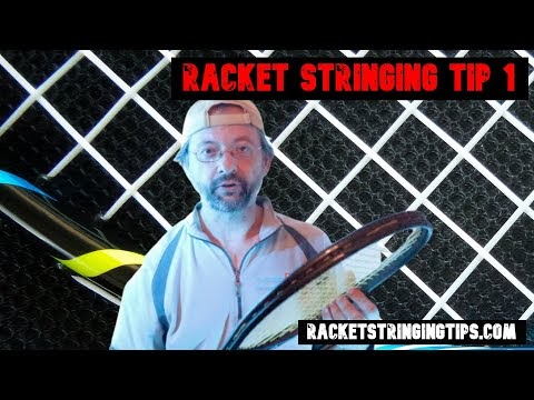 Tennis Racket Stringing Tips - Frame / Grommet Check