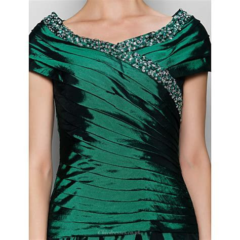 A line Mother of the Bride Dress   Dark Green Ankle length