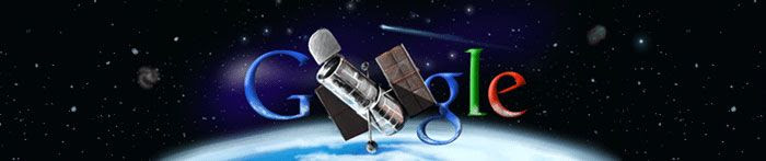 A screenshot of the Hubble 'Google doodle'.