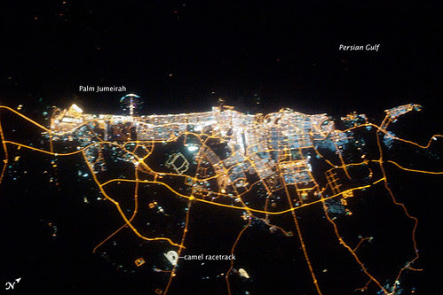 Dubai at Night, NASA image