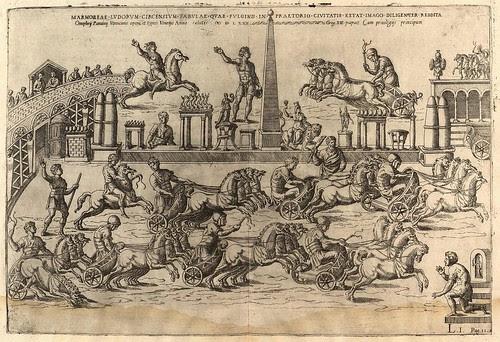 chariot racing in Roman circus