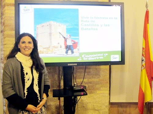 Ángeles Férriz durante la presentación de la iniciativa 'Conoce tu provincia'