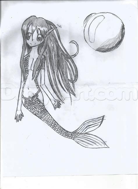 draw  anime mermaid step  step anime females