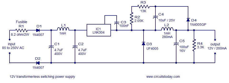 12V switch mode power supply