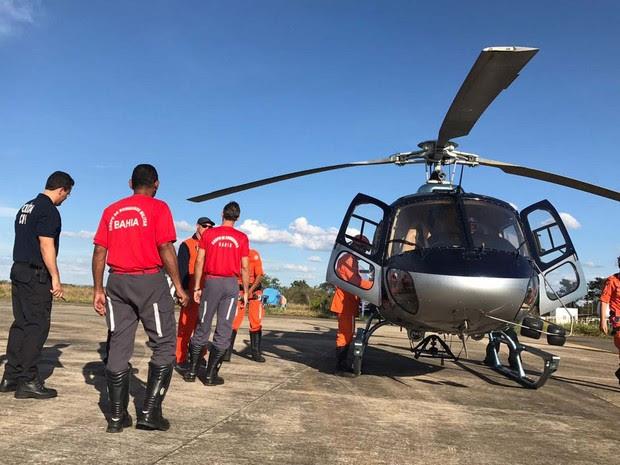 Aeronave da Operação 'Bahia sem Fogo' que foi até a Chapada para resgatar corpo de turista francês (Foto: Divulgação/Corpo de Bombeiros Militar)