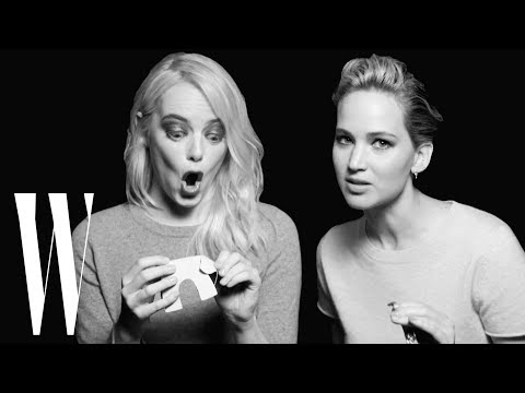 Jennifer Lawrence and Emma Stone Have a Lot in Common | Screen Tests | W...