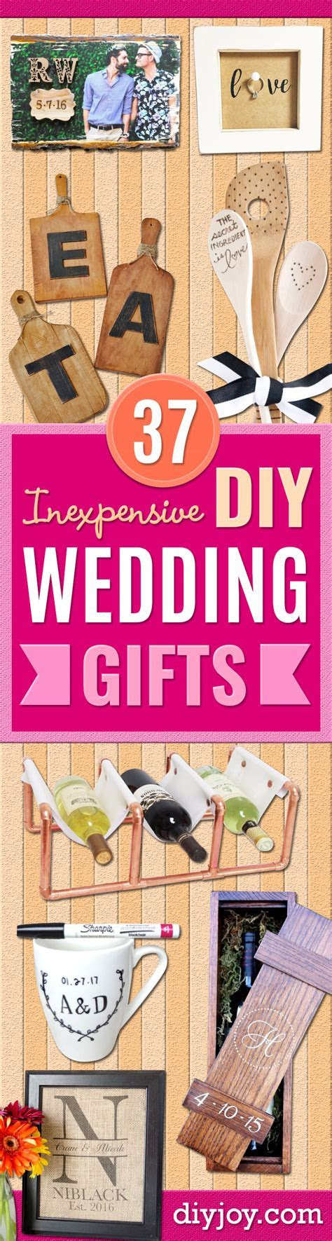 37 Expensive Looking DIY Wedding Gifts That Are Sure To