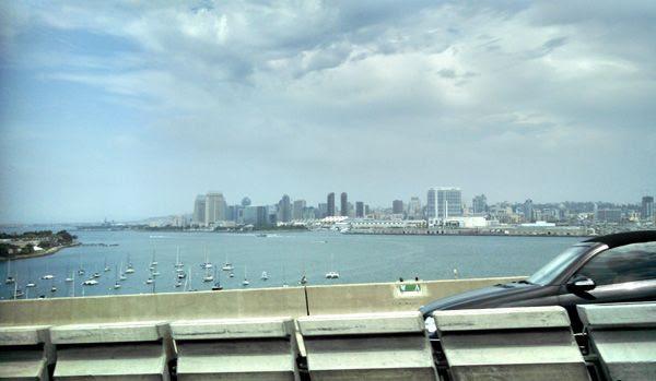 Downtown San Diego as seen from the Coronado Bridge, on July 25, 2014.