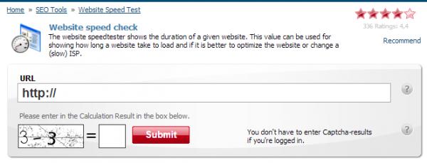 website speed check