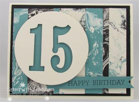 Easy Teenage Boy Birthday Card   Stamp with Jenn