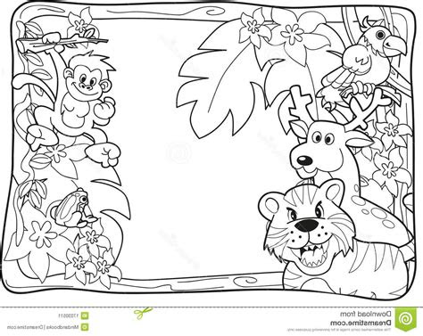 jungle animals coloring page realistic jungle animal