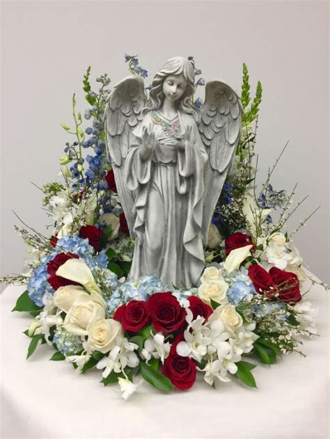 Guardian Angel in Red, White and Blue   Judy's Village Flowers