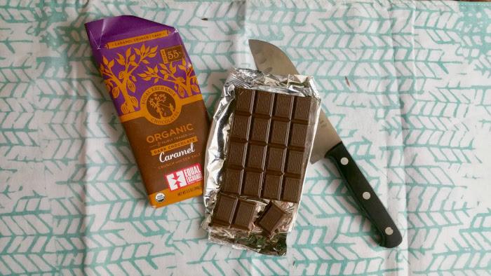 equal exchange organic dark chocolate caramel crush with sea salt chocolate bar december 2015 globein subscription