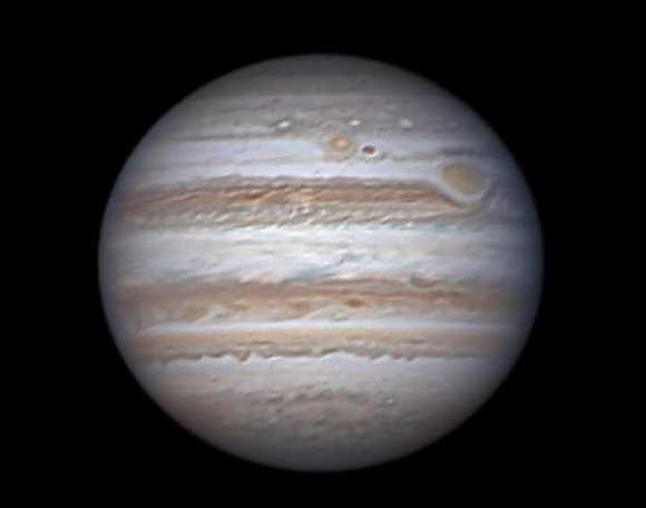 Don Parker's image of Jupiter and the Great Red Spot, taken in 2012. Credit: Don Parker.