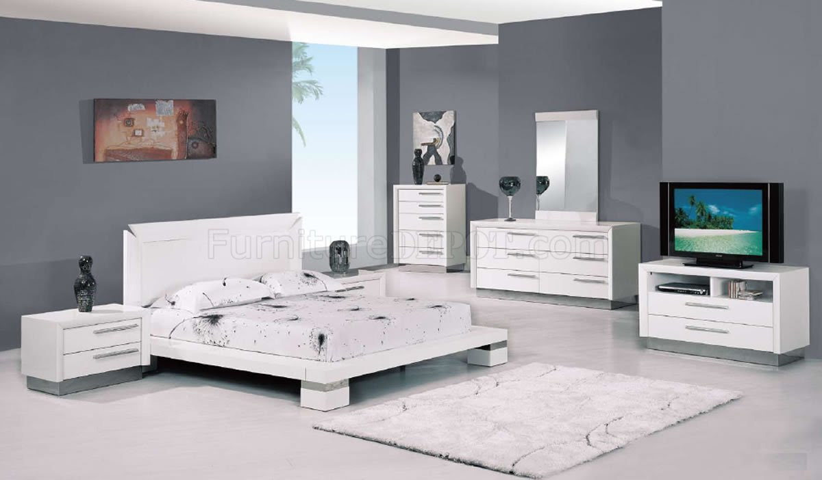 High Gloss White Bedroom Furniture Home Designs Inspiration
