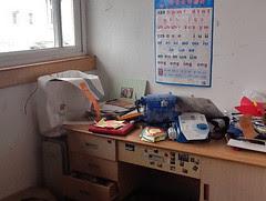 X's desk, 2011