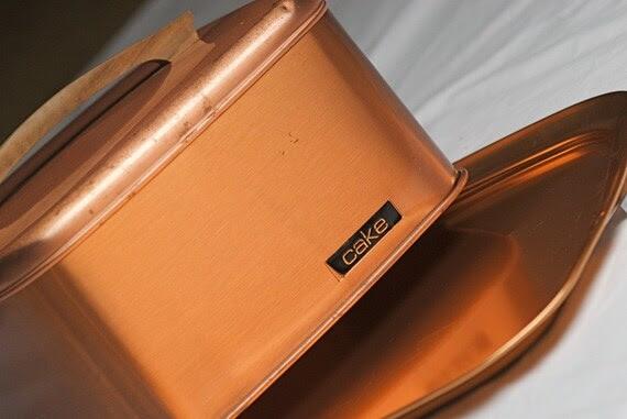 Vintage Copper Beauty Wear Cake Carrier