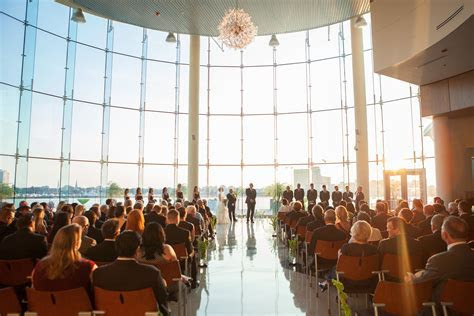Sunset ceremony indoors, Half Moone, Norfolk, VA   Wedding