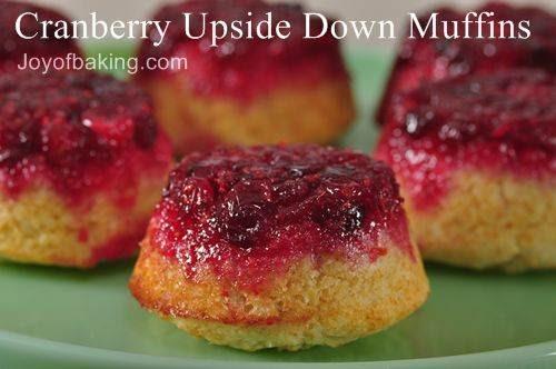 Cranberry Upside Down Muffins Recipe