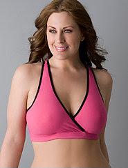 Cotton criss-cross sports bra by Marika