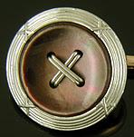 Carrington abalone button cufflinks. (J9233)