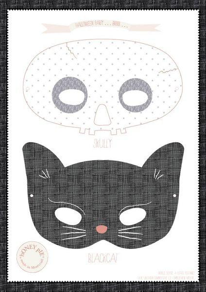 masque-halloween cat skull