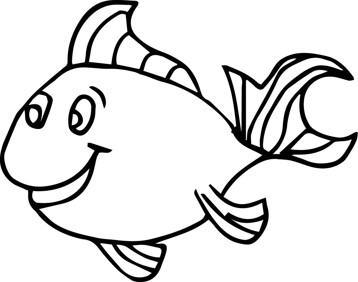 Fish Coloring Pages For Kids - Preschool and Kindergarten