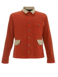 Topman Percival Orange Waxed Jacket