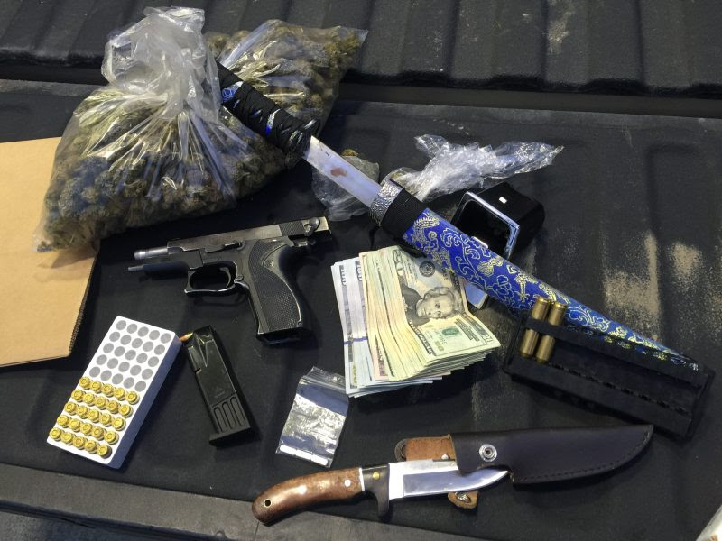 Sleepy Men Arrested With 12 Pound Of Weed And Weapons Redheaded