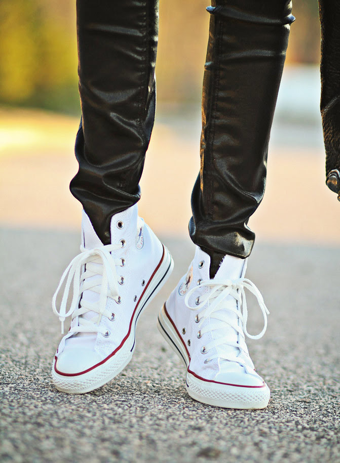 Chuck Taylor Converse Hi Top Sneakers, Alexander Wang Diego bucket bag, Fashion