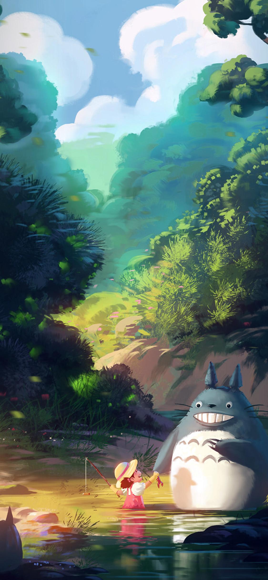 av34-totoro-anime-liang-xing-illustration-art-blue-wallpaper