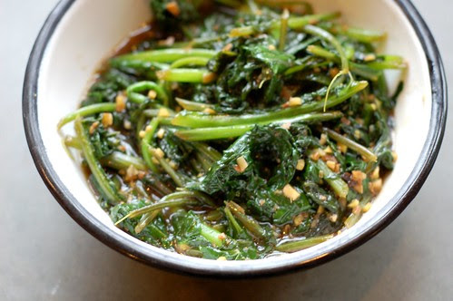 Stir-fried winter greens by Eve Fox, Garden of Eating blog, copyright 2011
