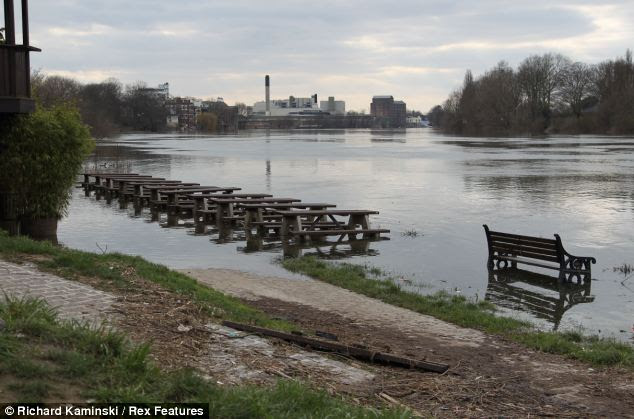 Spectators will have to take a paddle if they want to watch the Boat Race from this stretch of the river Thames