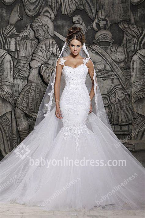 2015 New Arrival Wedding Dresses Mermaid Applique Lace