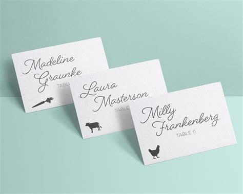 INSTANT DOWNLOAD Meal Choice Icons for RSVP Cards Place