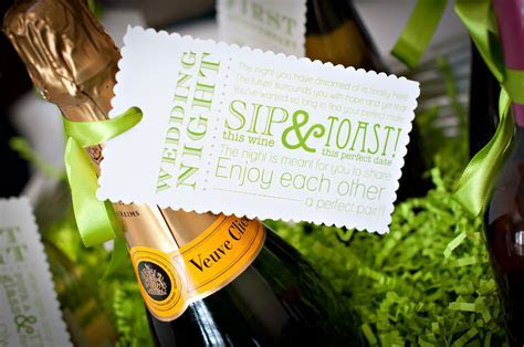 wedding night tag for wine basket gift   The Celebration