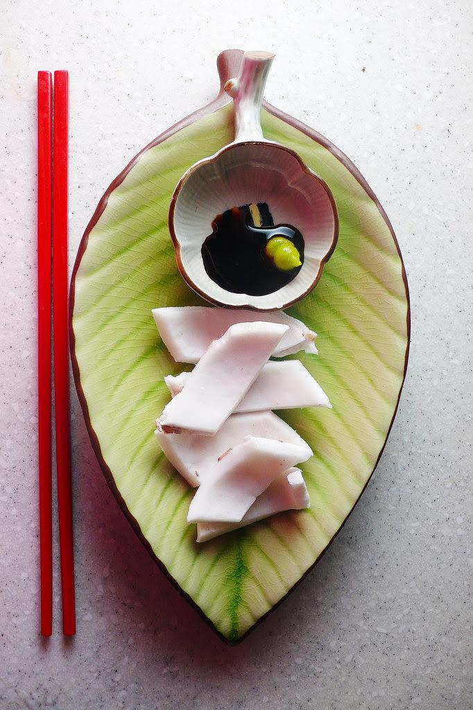 coconut, sashimi-style