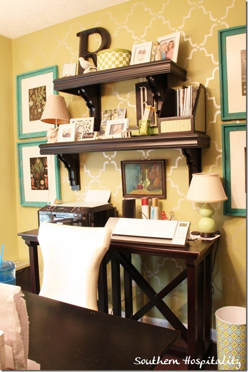 home office makeover before and after | Southern Hospitality