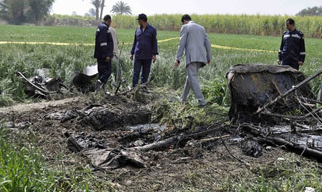 Debris from the Egyptian balloon accident where 19 tourists died in Luxor. An investigation is currently underway by the prosecutor in the region. by Pan-African News Wire File Photos