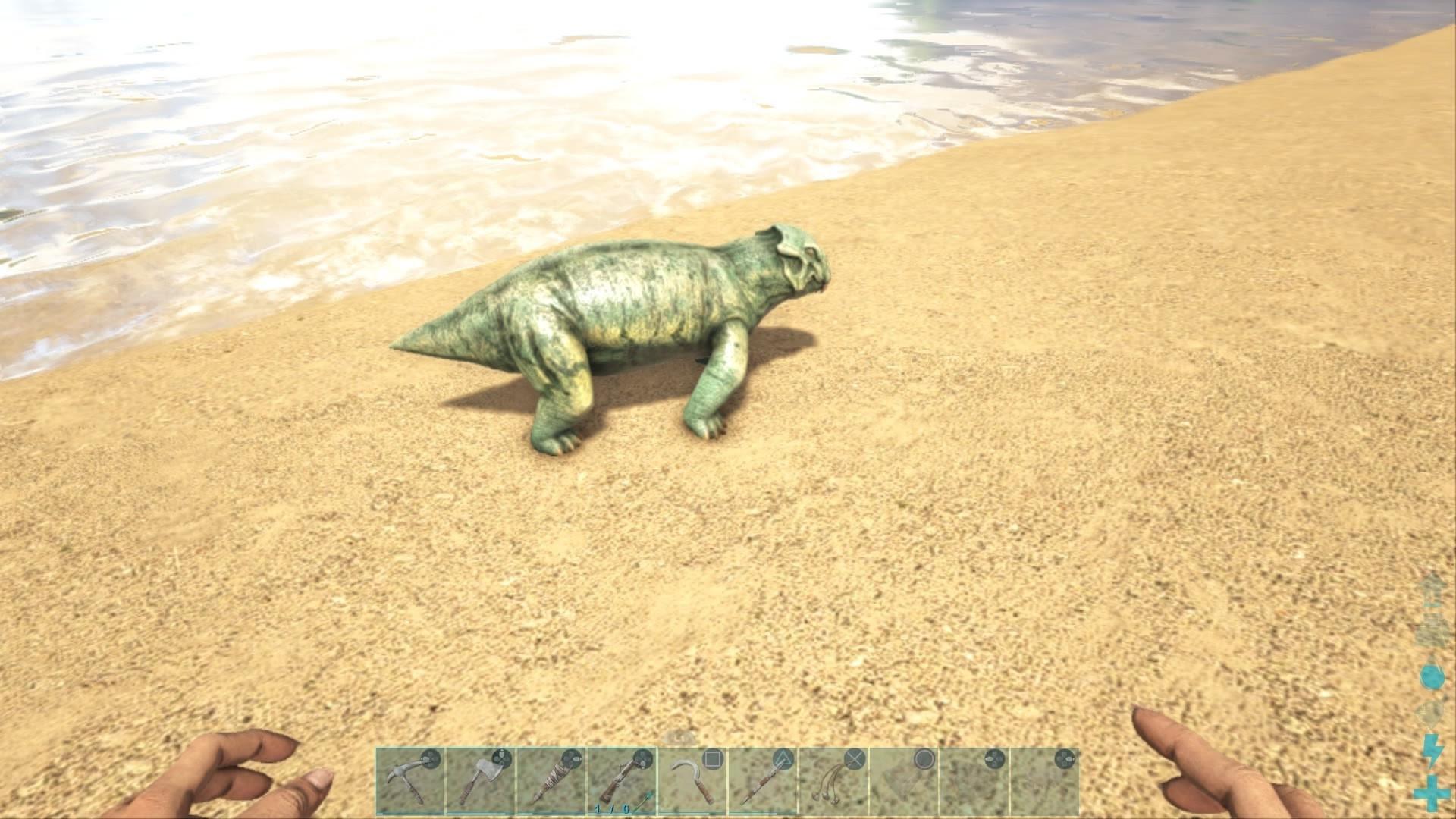 アークps4 リストロサウルスをテイムして経験値を入手しようキブル