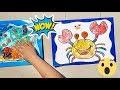 Mewarnai Kepiting dan Rumah Jamur - Learn to Coloring