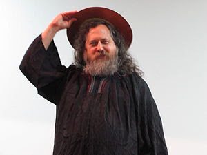 English: Richard Stallman in his Saint iGNUciu...