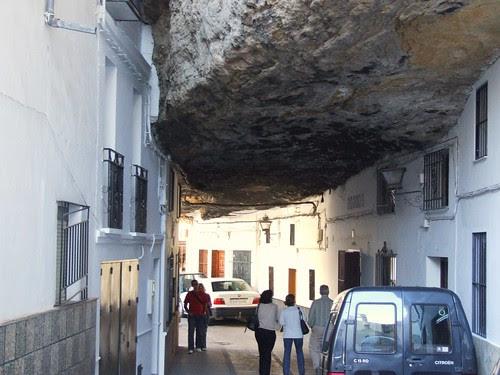 Techo de piedra en Setenil