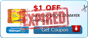 $1.00 off any TWO (2) OSCAR MAYER Hot Dogs