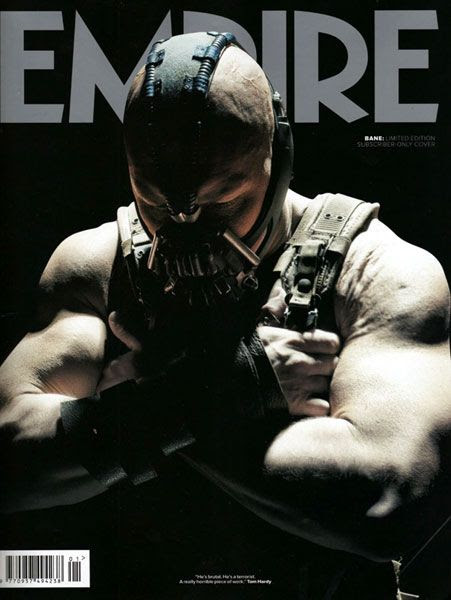 The (subscriber-only) Bane cover of Empire's THE DARK KNIGHT RISES magazine issue.