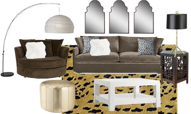 leopard living room