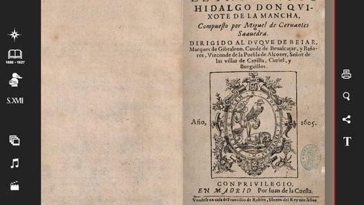 DIGITALES. Las 1.282 páginas de los dos tomos de la primera edición de la obra de Cervantes.