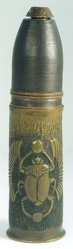 Carved shell casing