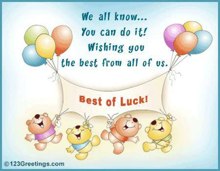 Best Of Luck! Free At Work Etc eCards, Greeting Cards