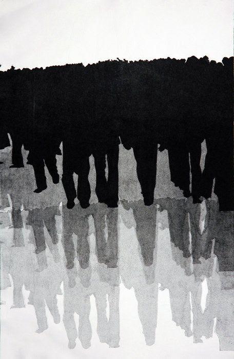 Monoprint by Naz Rahbar
